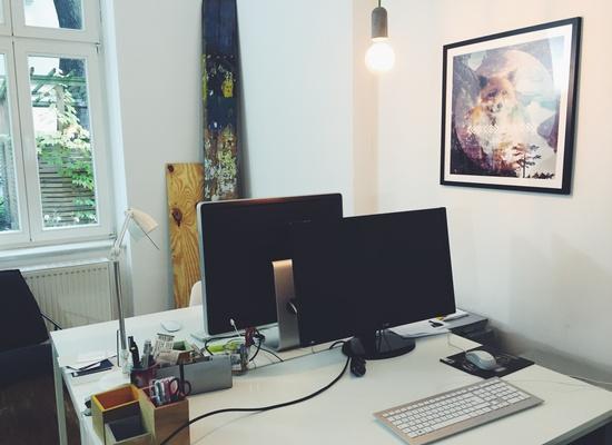 Co-Working space im muxmäuschenwild STUDIO