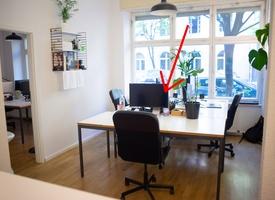 Desk in shared office/ Co-Working, Bürogemeinschaft, Arbeitsplatz