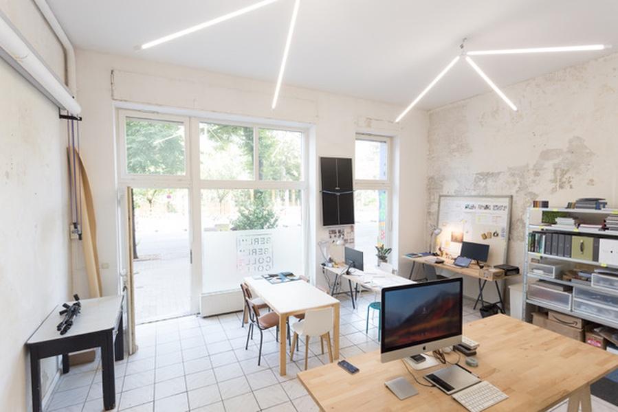 Desk in shared office