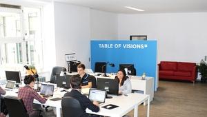 Free desks in coworking-space at Rosenthaler Platz