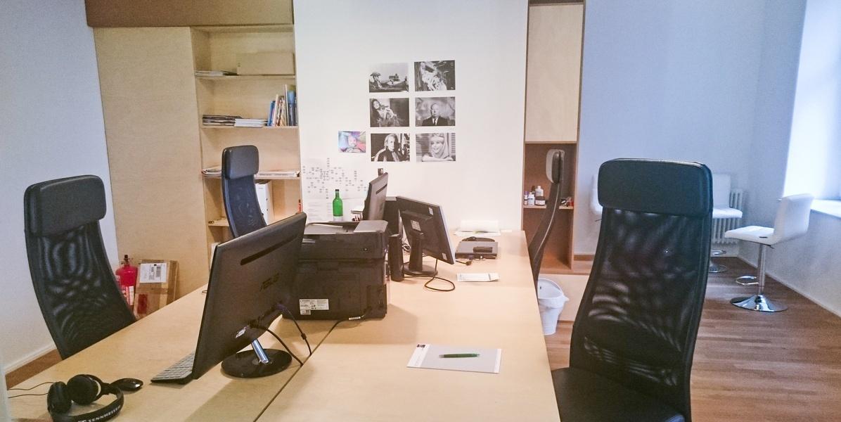 Bürogemeinschaft/Coworking am Rosenthaler Platz / Veteranenstr. (in Filmproduktionsfirma)