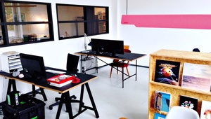 Bright, large desk space in shared office