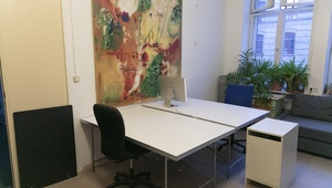 work desk in office community in Kreuzberg