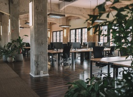 Coworking space with free food and many perks