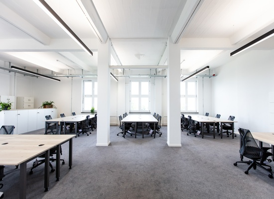 OFFICE: **Full-Serviced-Office** incl. meeting-rooms, kitchen and shared areas