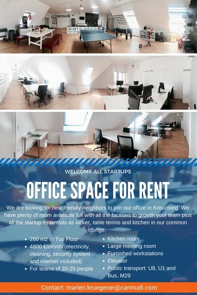 Part of our Kreuzberg Loft Office to Sublet