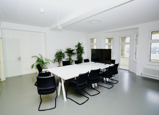 Modern top-floor coworking space
