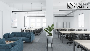 **Furnished Office with meeting rooms, kitchens and common areas**