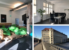 One Room (2-10 desks) with/without furniture at S-Bahnhof Sonnenallee