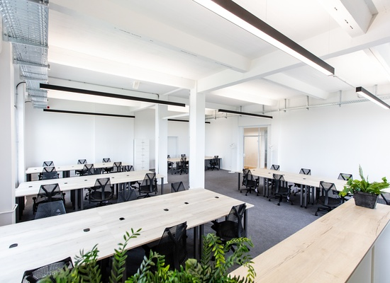 ++Furnished office spaces including meeting rooms and community areas++
