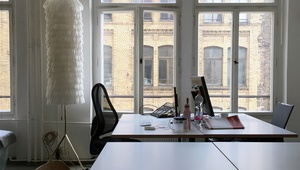 2 desks in a bright calm studio in Mitte/ Kreuzberg