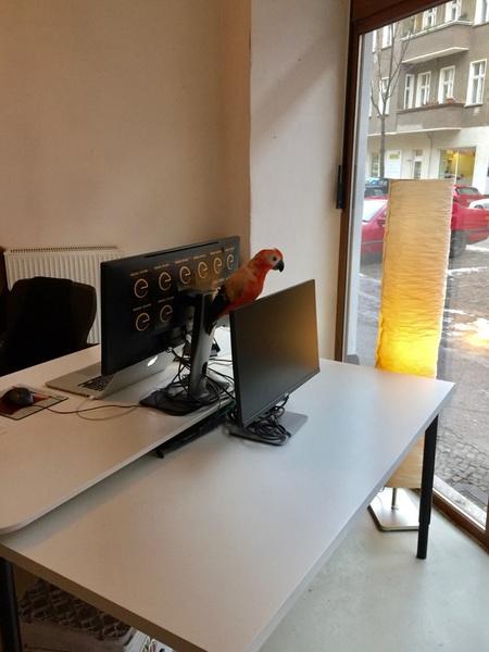 Desk in a co-working office in a very nice spot of Friedrichshain