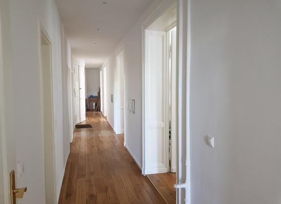 Büroetage in Berlin Moabit, Altbau, 2x WC, helle Räume 193,39 m2