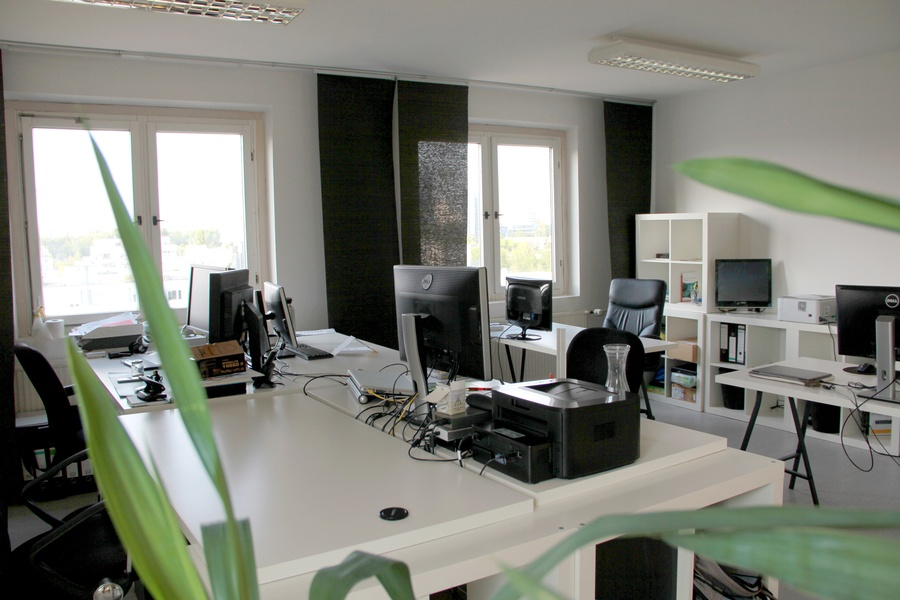 Nice office space offers desk with panoramic views