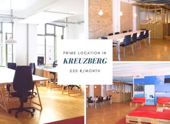200 sqm / 25 desks available asap in Kreuzberg