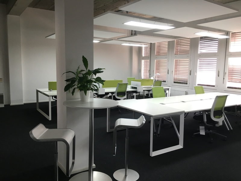 Spacious desks in sunny shared office at EUREF startup campus