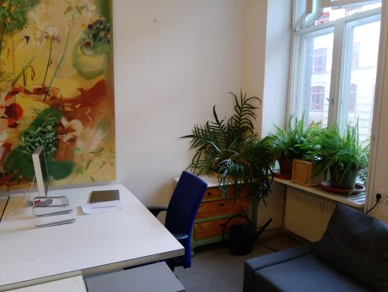 work desk in office community in Kreuzberg