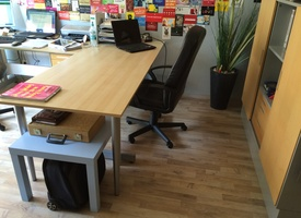 Desk and co-working startup atmosphere in Berlin-Mitte