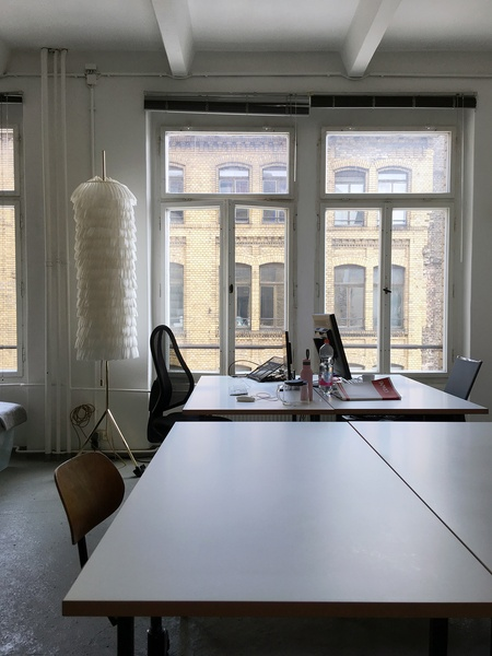 2 desks in a bright calm studio in Mitte/ Kreuzberg