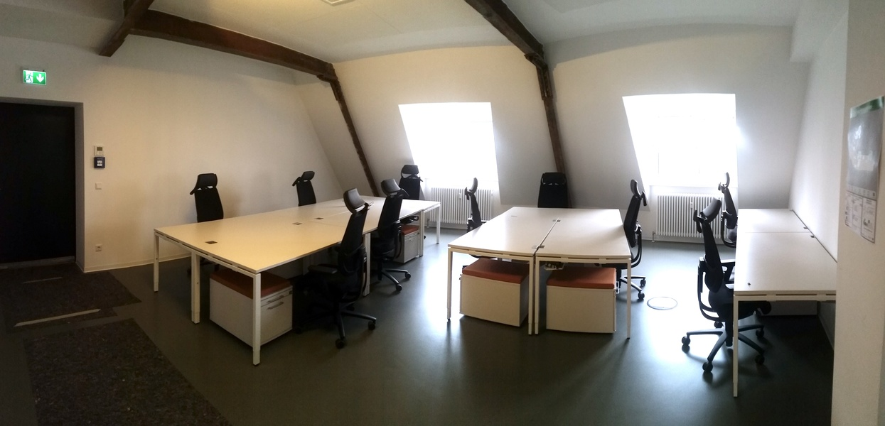 Fully Furnished, Top-Floor, High Ceiling Office Space