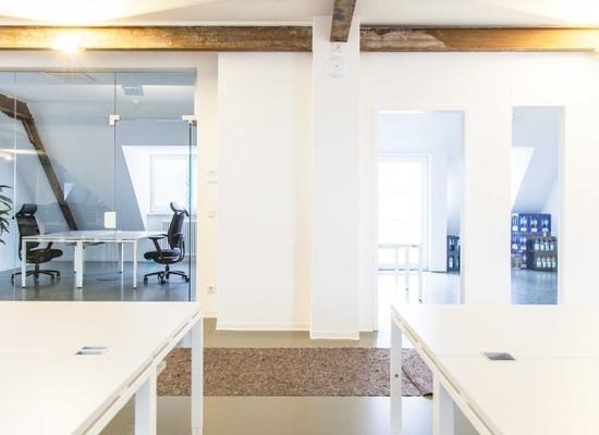 Modern top-floor coworking space