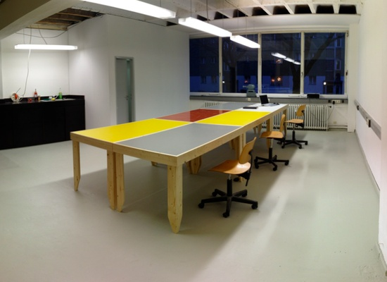 1-3 desks in industrial building