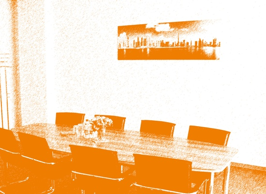 "Desks for teams & single workers near trainstation ""Ostkreuz"""