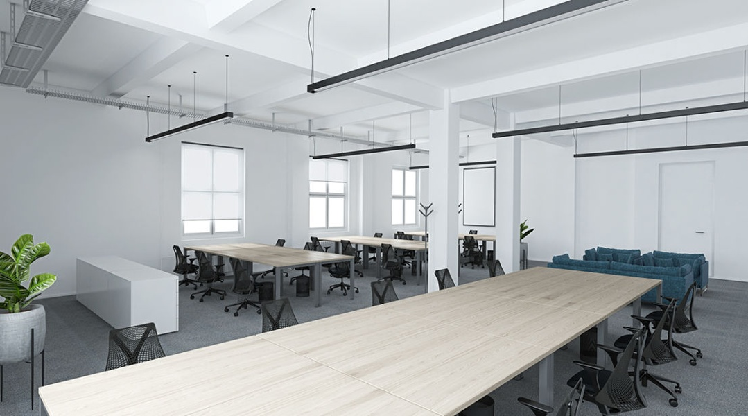 OFFICE: Spacious office with all amenities of working in a temporary environment