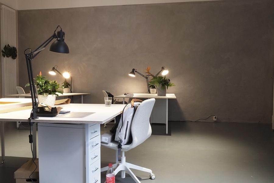Desk in our new Space in Kreuzberg