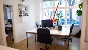 Desk in shared office/ Co-Working, Bürogemeinschaft, Arbeitsplatz